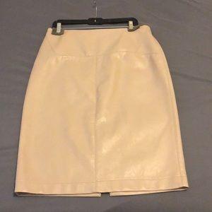 "Zara tan ""leather"" pencil skirt"